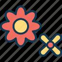 bloom, blossom, decorative flower, flower icon