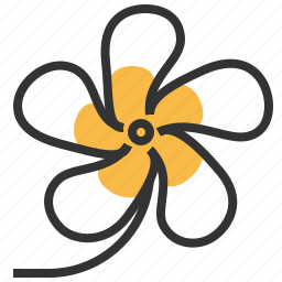 bloom, ervatamia, floral, flower, plant icon