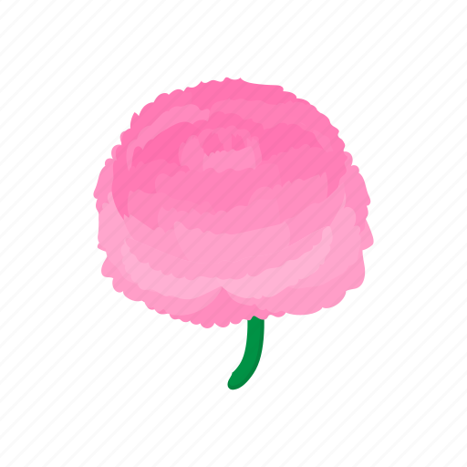 cartoon, floral, flower, nature, peony, pink, plant icon
