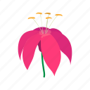 cartoon, floral, flower, nature, pink, plant, spring icon