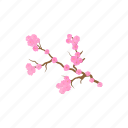 blossom, branch, cartoon, flower, nature, pink, spring icon