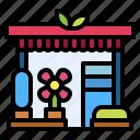 flower, shop, store