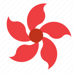 bloom, blooming, floral, flower, nature, periwinkle, plant icon