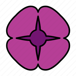 abstract, bloom, floral, flower, nature, pansy, shape icon