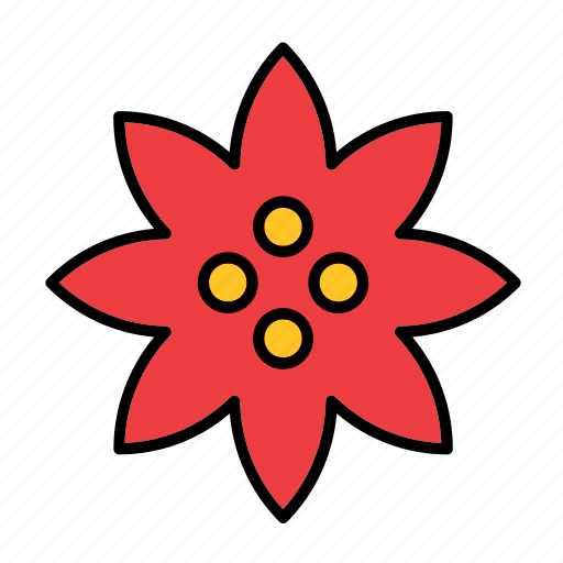 abstract, bloom, dahlia, floral, flower, nature, shape icon