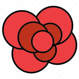 abstract, bloom, floral, flower, nature, rose, shape icon