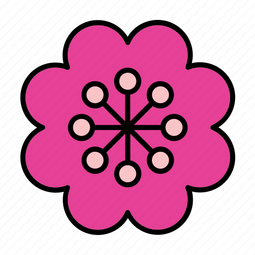 abstract, bloom, floral, flower, lotus, nature, shape icon