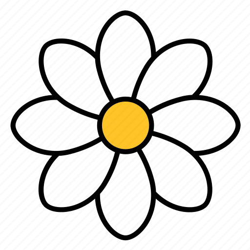 abstract, bloom, daisy, floral, flower, nature, shape icon