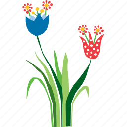 abstract, flora, floral, flower, nature, plant, tulip icon