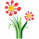 abstract, flora, floral, flower, nature, plant, shape icon
