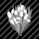 bouquet, eco, floristry, flower, nature, plant, snowdrop icon