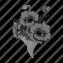 bouquet, eco, floristry, flower, nature, plant, poppy icon