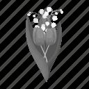 bouquet, eco, floristry, flower, nature, plant, tulip icon