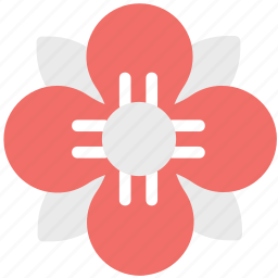 blossom, decoration, ecology, flower, flower with rounded petals, petals icon