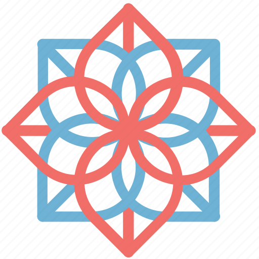 blooming, decorative, floral, flower, geometric flower, nature, rose bloom icon