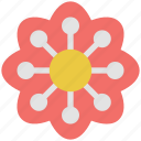 decorative, ecology, nature, flower, geometric flower, blooming, floral, bloom, rose bloom icon