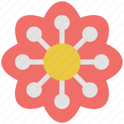 bloom, blooming, decorative, ecology, floral, flower, geometric flower, nature, rose bloom icon