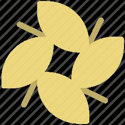 flower, four leaves, leaf, leaf flower, nature, plant, violet flower icon