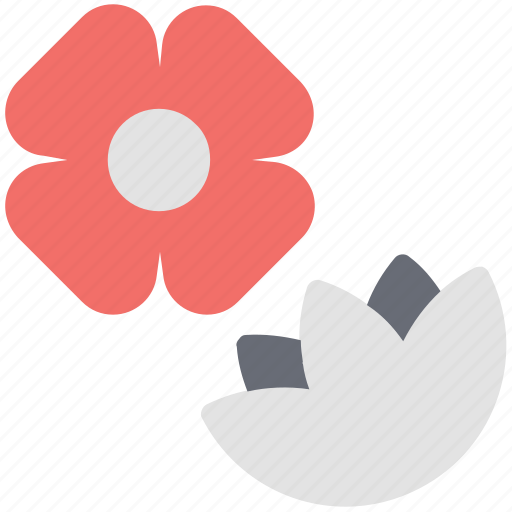 decorative, ecology, leaves, petals, plants, pretty flower icon