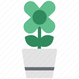 flower, flower pot, nature, plant pot, pot icon