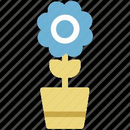 ecology, flower, flower pot, nature, plant pot, pot icon