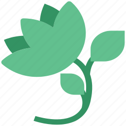 blooming, blooming flower, ecology, floral, rose, rose with leaves icon