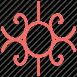 curls flower, decoration, decorative flower, floral design, spirals flower icon