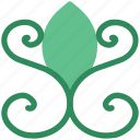 decoration, ecology, floral design, floral pattern, spirals flower icon