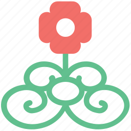 buds flower, curls leaves, floral, floral design, rose with pattern, seeds floral, seeds pattern icon