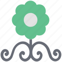 branch, decoration, decorative, flower, ornament, rose with branches icon