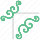 decoration, decorative flower, ecology, flower, flower pattern, spirals flower icon