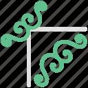 decoration, decorative flower, ecology, flower, flower pattern, spirals flower icon