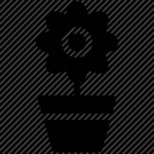 flower, flower pot, nature, plant pot, pot icon