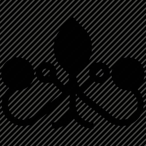 fanoos flower, floral bells, stems flower, vine flower icon