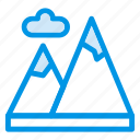 cloud, height, hike, hill, land, mount, vacation icon