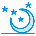 higher, lunar, moon, night, sky, stars, weather icon