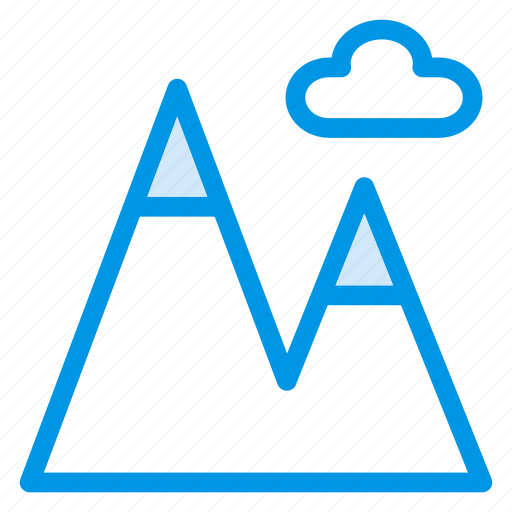 cloud, height, hill, mountain, rock, stone, vacation icon