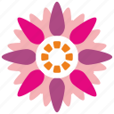 abstract, bud, flower icon