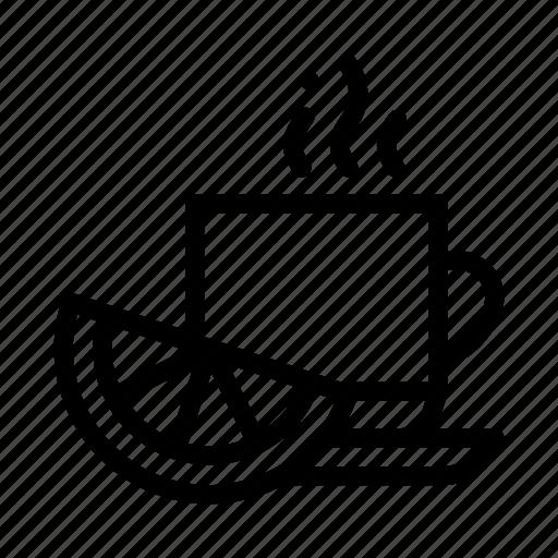 cup, hot, lemon, tea icon