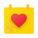 calendar, anniversary, valentine, love, schedule, wedding, event