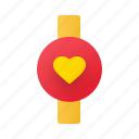 wristwatch, watch, clock, time, date, anniversary, valentine