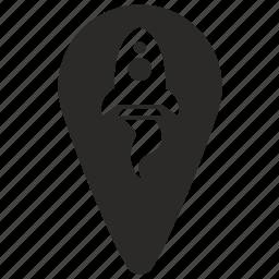 geo, point, pointer, rocket, start icon