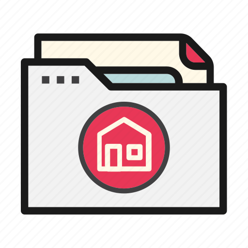 document, file, folder, home, main icon