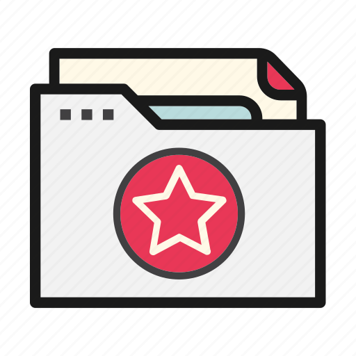 document, favourites, file, folder, star icon