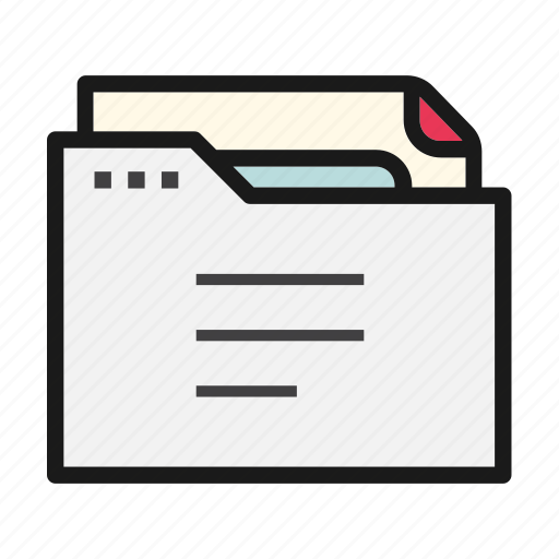 document, file, folder, office, text icon
