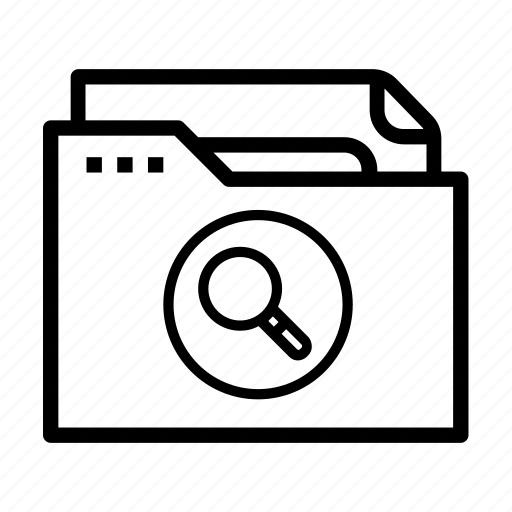data, document, file, magnifying glass, search icon