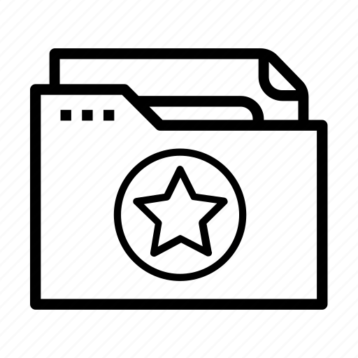 document, favourites, file, folder, star icon