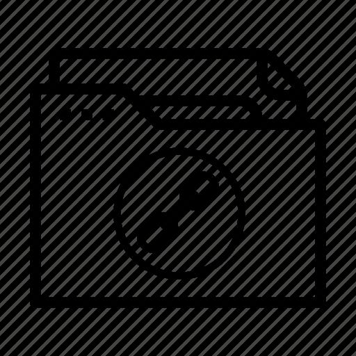 chain, document, file, folder, links icon