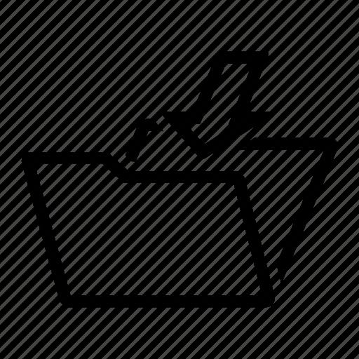 document, folder, office, open icon