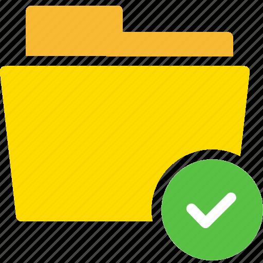 check, correct, data, document, file, folder, right icon